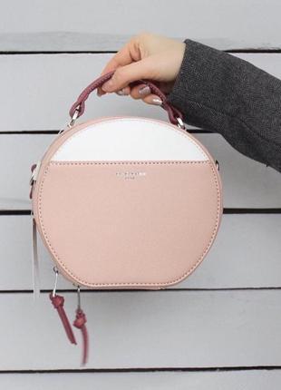 Клатч круглый розовый david jones, сумка, сумочка на плечо кру...