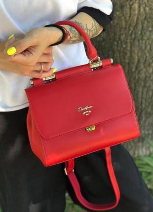Женская сумка, сумочка на плечо красная david jones, красный к...