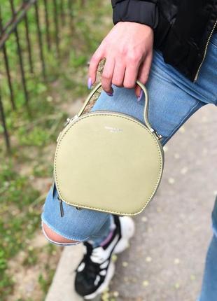 Клатч круглый хаки david jones, сумка, сумочка круглая на пояс...