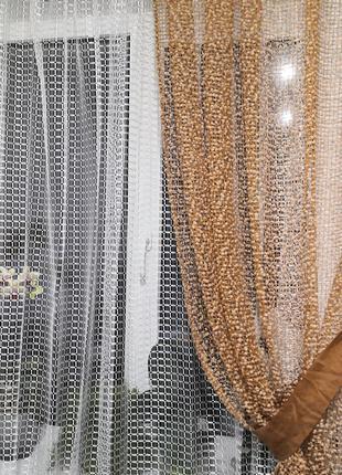 Занавеска тюль со шторой
