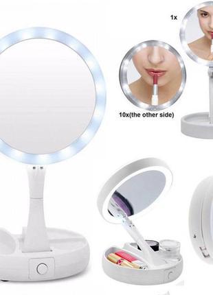 Зеркало для макияжа настольное с led подсветкой my fold nbz ра...