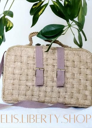 Плетеная сумка ручная работа