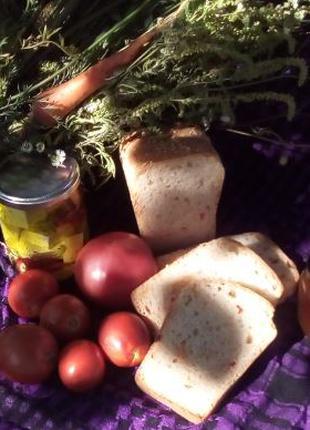 Натуральный домашний хлеб на закваске.