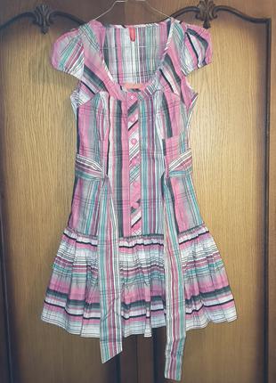 Платье новое из хлопка короткое