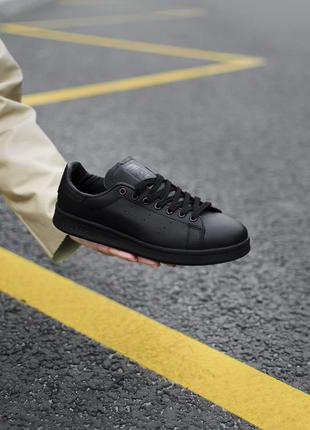 Adidas stan smith black lather