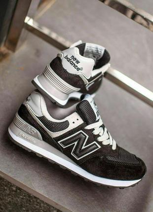 New balance 574 кроссовки черные