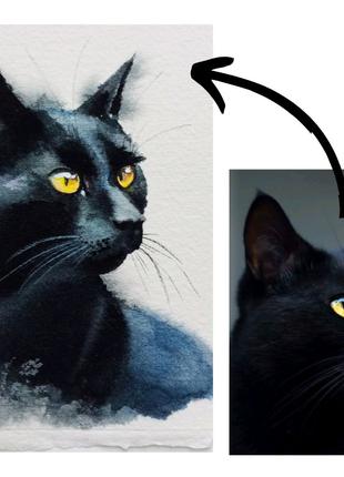 Портрет питомца кот собака домашнего животного
