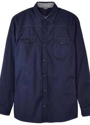 Мужская рубашка котон на кнопках livergy р.м 48 - 50  нюанс