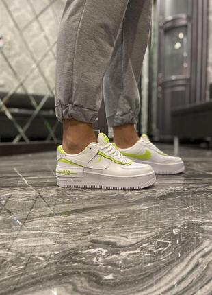 Кроссовки  nike air force 1 shadow white green