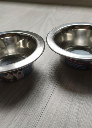 Миска металева для собак та котів Trixie 200 мл (4011905248400)