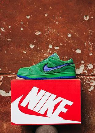 Кроссовки nike sb dunk low x grateful dead green\blu