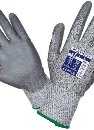 Перчатки от порезов с полиуретановым покрытием ладони