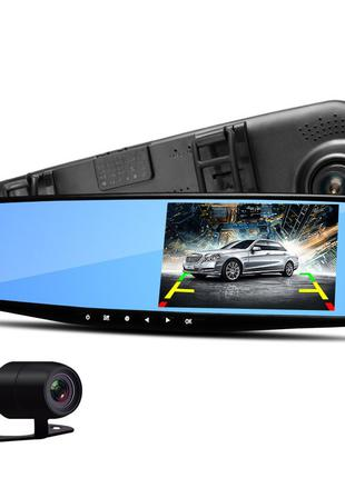 Автомобильное зеркало видеорегистратор для машины на 2 камеры