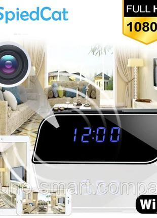 IP мини камера часы видео наблюдения WiFi FULL HD