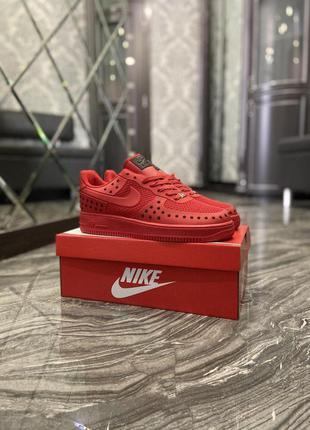 Nike air force 1 low red black stars