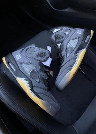 Nike air jordan v retro x off-white.