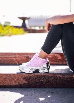 Кроссовки adidas x raf simons ozweego clear pink silver metallic