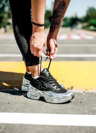Кроссовки adidas raf simons ozweego core black silver metallic