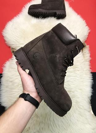 Женские ботинки timberland зима 🔥натуральный нубук