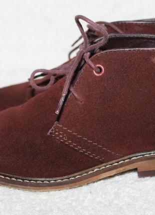Ботинки замшевые next 32p(12) бордовые