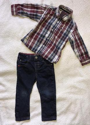 Рубашечка american style для стильного малыша 2-3 годика