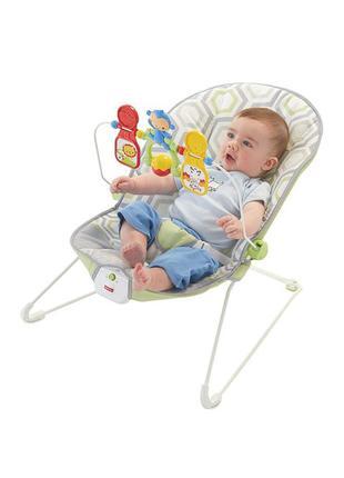 Fisher-Price Детский шезлонг кресло-качалка Геометрия Baby's B...