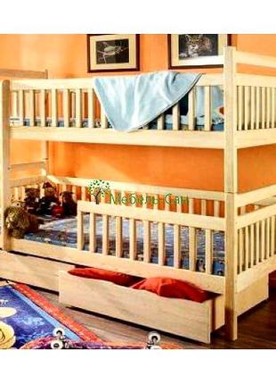 """Двухъярусная кровать """"Авалон из дерева"""