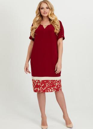 Летнее женское платье в стиле «casual classic» большого размера