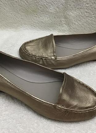 Туфли clark's кожаные золото 39(6)р оригинал
