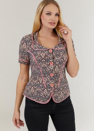 Женская летняя блуза с коротким рукавом большого размера