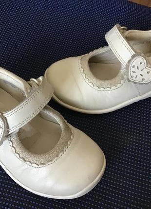 Туфли пинетки clark's кожаные 20.5р