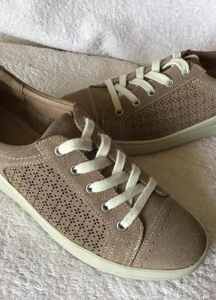 Кеды туфли мокасины foot glove замшевые 37р