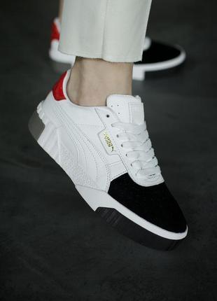 Puma cali white/black/red