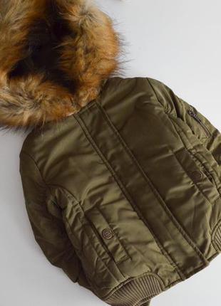 Курточка некст на 4г,на меху+синтепон