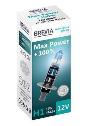 Галогеновая лампа Brevia H1 Max Power +100% 12v/55w