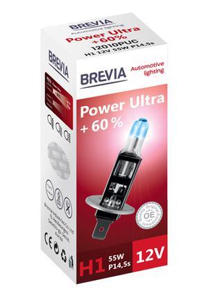 Галогеновая лампа Brevia H1 Power Ultra +60% 12v/55w