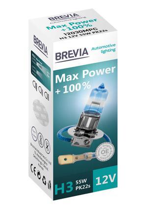 Галогеновая лампа Brevia H3 Max Power +100% 12v/55w