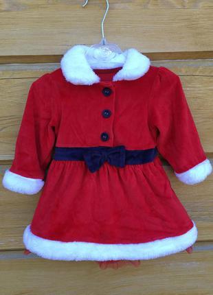 Новогоднее платье,пышное платье с мехом,красное платье на новы...