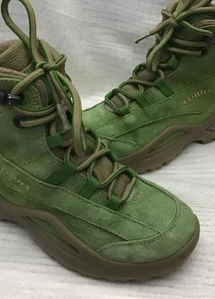 Ботинки lowa замшевые оригинал 34р gore tex