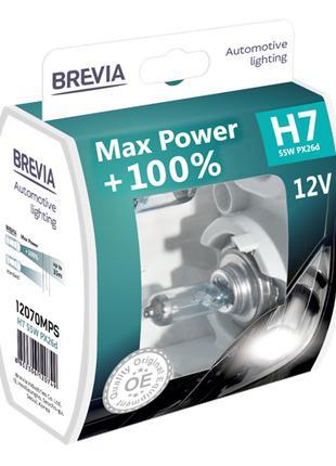 Комплект галогеновых ламп Brevia H7 Max Power +100% 12v/55w