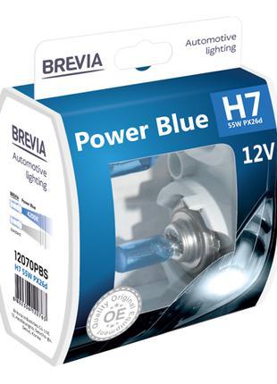 Комплект галогеновых ламп Brevia H7 Power Blue 12v/55w