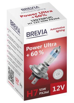Галогеновая лампа Brevia H7 Power Ultra +60% 12v/55w