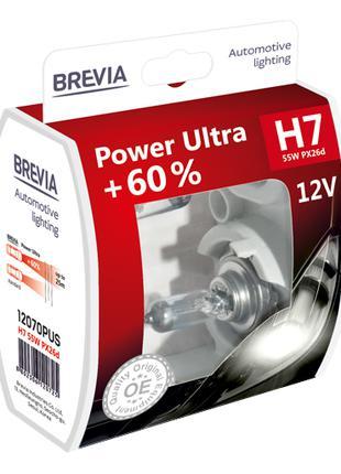 Комплект галогеновых ламп Brevia H7 Power Ultra +60% 12v/55w