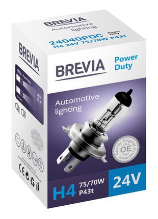 Галогеновая лампа Brevia H4 Power Duty 24v 75/70w