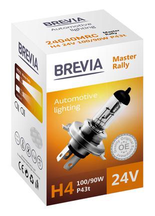 Галогеновая лампа Brevia H4 Master Rally 24v 100/90w