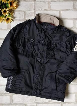 Куртка деми boystar 73 на мальчика черная