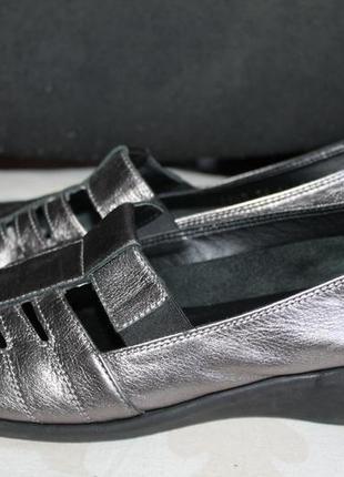 Туфли кожаные цвета бронзы tic 39р wide fit