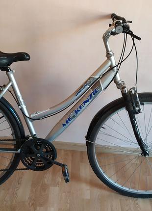 Велосипед, 28 колеса, аллюминий, + габаритные огни и фара