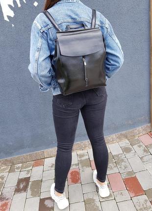Кожаный бомбический рюкзак