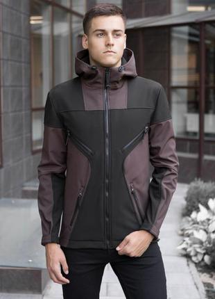 "Pobedov soft shell jacket ""aura"" (brown-black)"